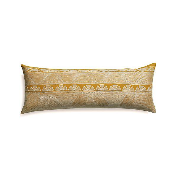 "Kentra 36""x14"" Pillow with Down-Alternative Insert"