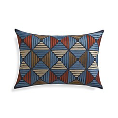 "Kenzie 18""x12"" Pillow with Feather-Down Insert"