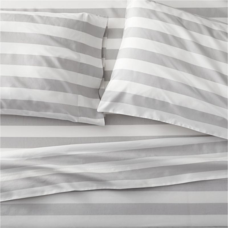 Marimekko Kesahelle Grey Queen Sheet Set