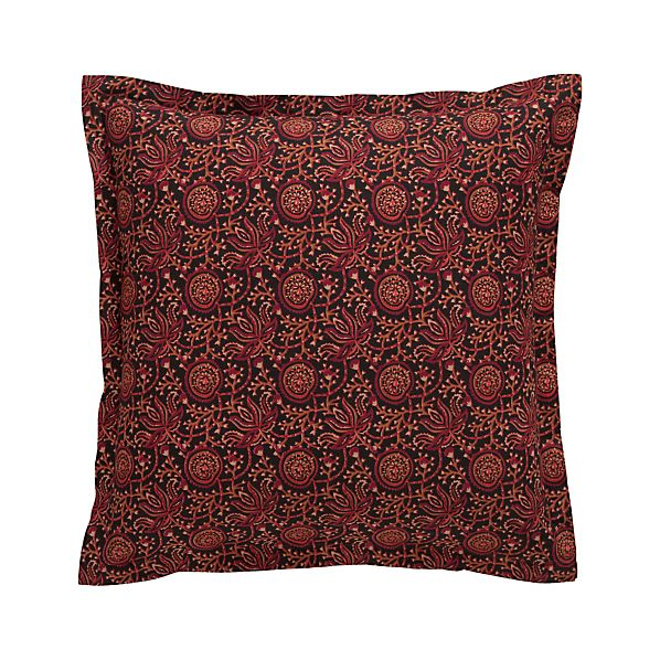 "Ketu Orange 20"" Pillow with Feather-Down Insert"
