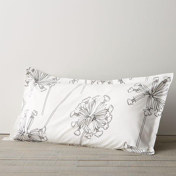 Marimekko Kevatesikko Black-White King Pillow Sham