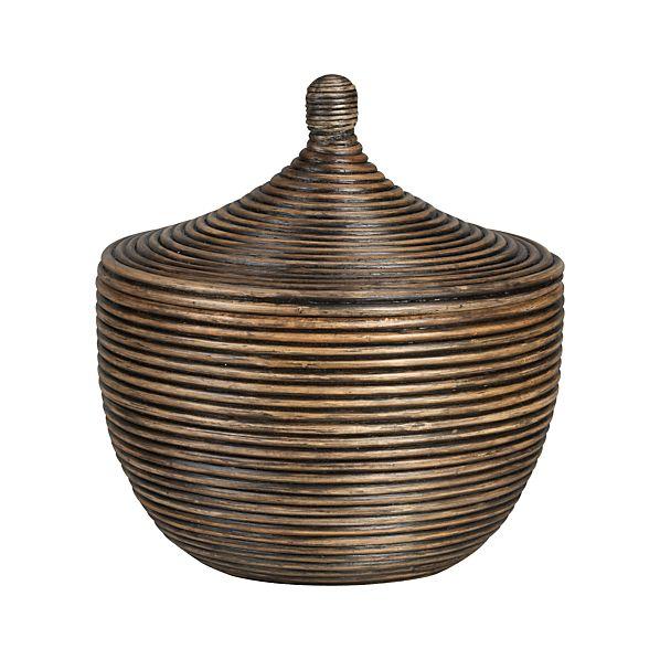 Kez Small Lidded Basket