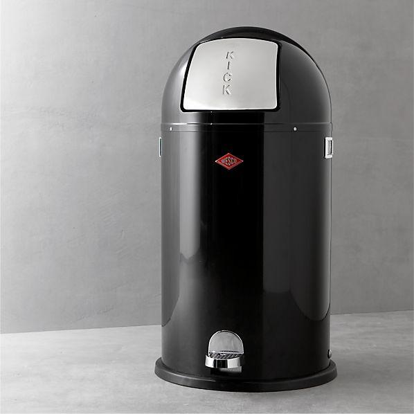 Wesco ® Kickboy 10.5-Gallon Black Trash Can