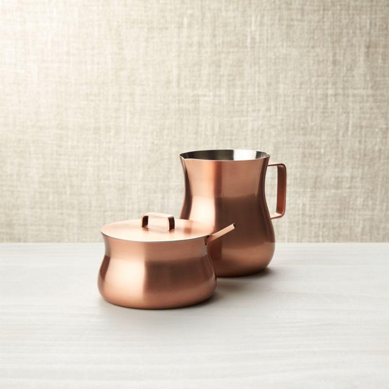 Copper Sugar Bowl And Creamer Crate And Barrel