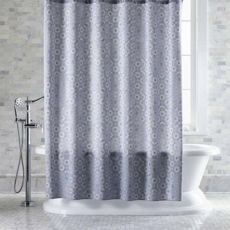 Marimekko Kioto Royal Blue Shower Curtain