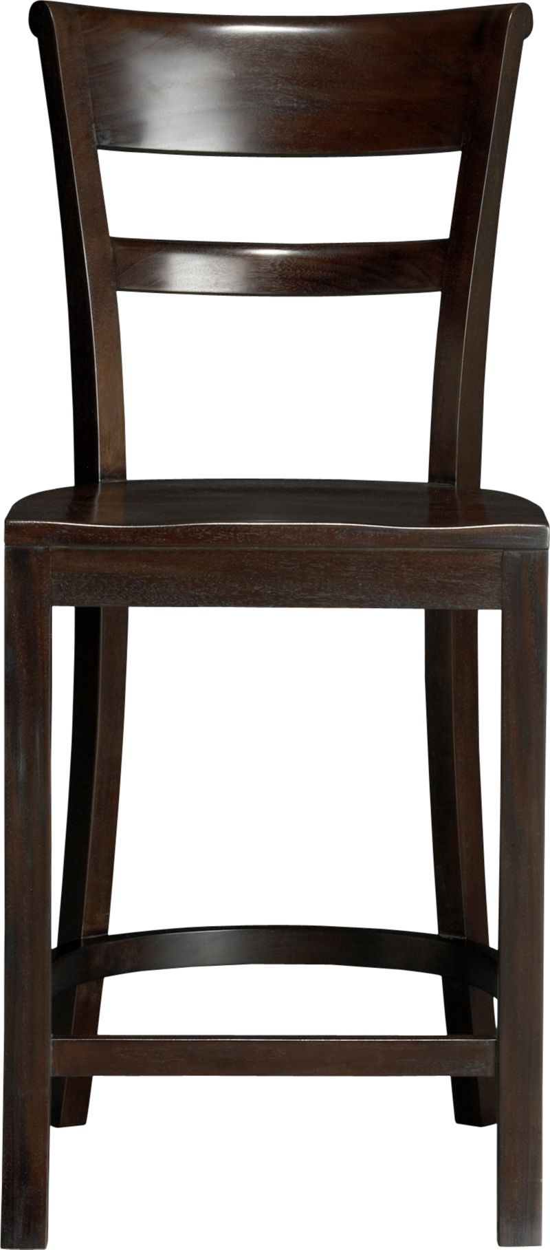 """Solid mahogany seating pulls up to counter with ease and elegance. Barstool has graceful rolled back and comfortable contours to the seat. A soft-sheen lacquer adds a finishing detail.<br /><br /><NEWTAG/><ul><li>FSC-certified solid mahogany</li><li>Clear protective lacquer finish</li><li>24""""H seat sized for counters</li><li>Made in Indonesia</li></ul>"""