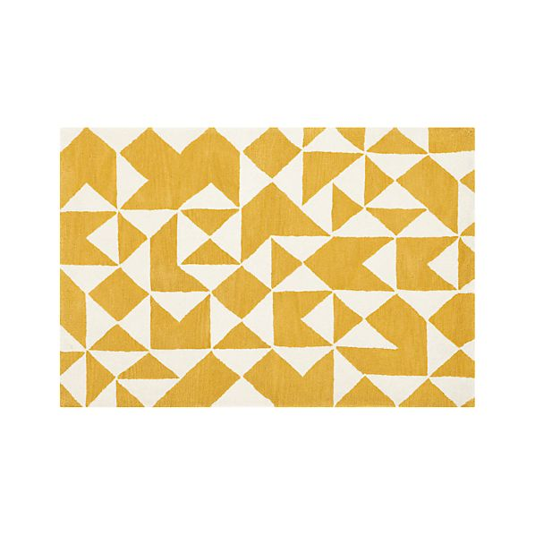 Kipp Yellow 4x6 Rug