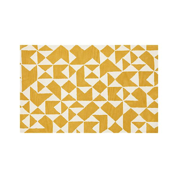 Kipp Yellow 5x8 Rug