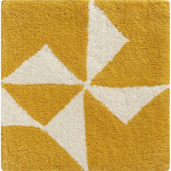 "Kipp Yellow 12"" sq. Rug Swatch"