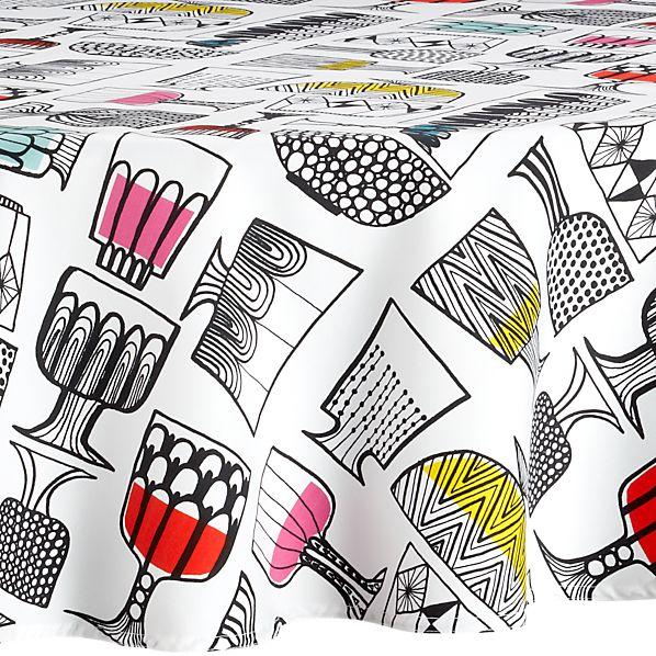 "Marimekko Kippis 72"" Round  Tablecloth"