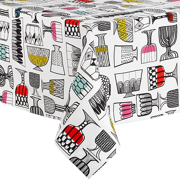 """Marimekko Kippis 60""""x90"""" Tablecloth"""