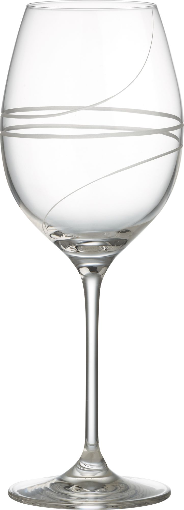 Elegant hand-engraved spirals add élan to the classic tulip wine glass. Modern machine-blown process mimics handblown glass at an affordable price.<br /><br /><NEWTAG/><ul><li>Clear glass</li><li>Hand-engraved and polished design</li><li>Diamond-cut and fire-polished rim</li><li>Top-rack dishwasher-safe</li><li>Made in Slovakia</li></ul><br />