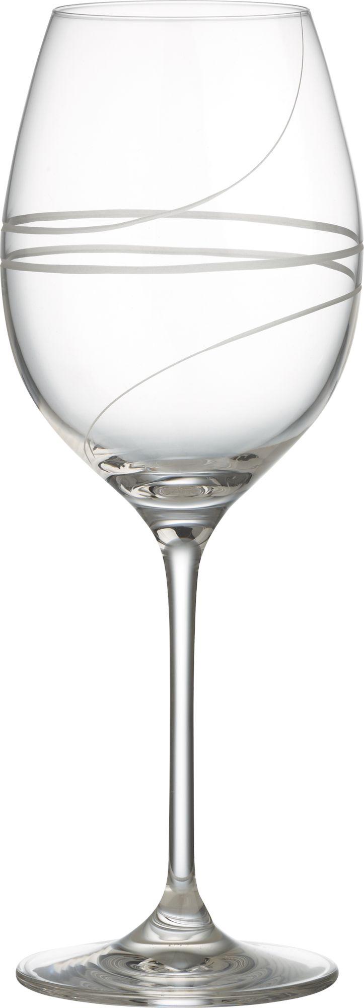 Elegant hand-engraved spirals add élan to the classic tulip wine glass. Modern machine-blown process mimics handblown glass at an affordable price.<br /><br /><NEWTAG/><ul><li>Clear glass</li><li>Hand-engraved and polished design</li><li>Diamond-cut and fire-polished rim</li><li>Top-rack dishwasher-safe</li><li>Made in Slovakia</li></ul><br />
