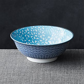 "Kiso 8"" Noodle Bowl Light Blue"