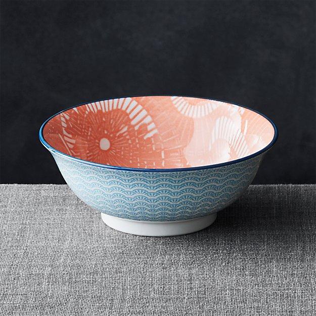 "Kiso Orange 8"" Noodle Bowl"