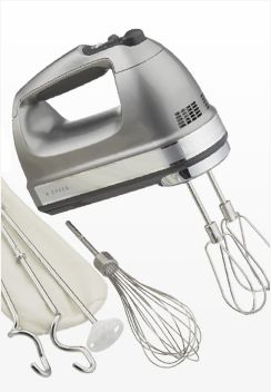 KitchenAid Silver 9-Speed Contour Hand Mixer