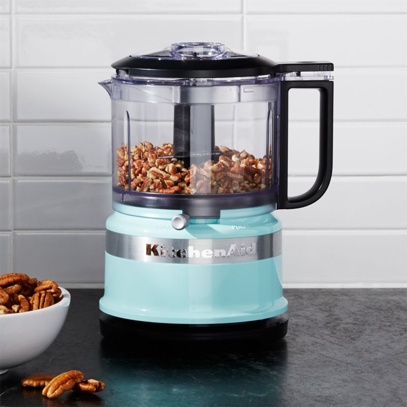Kitchenaid 174 Ice Blue 3 5 Cup Food Chopper Crate And Barrel