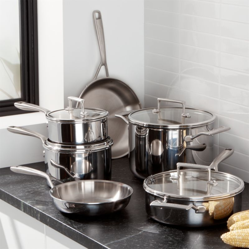 Kitchenaid 10 piece copper core cookware set crate and barrel - Kitchen aid pan set ...