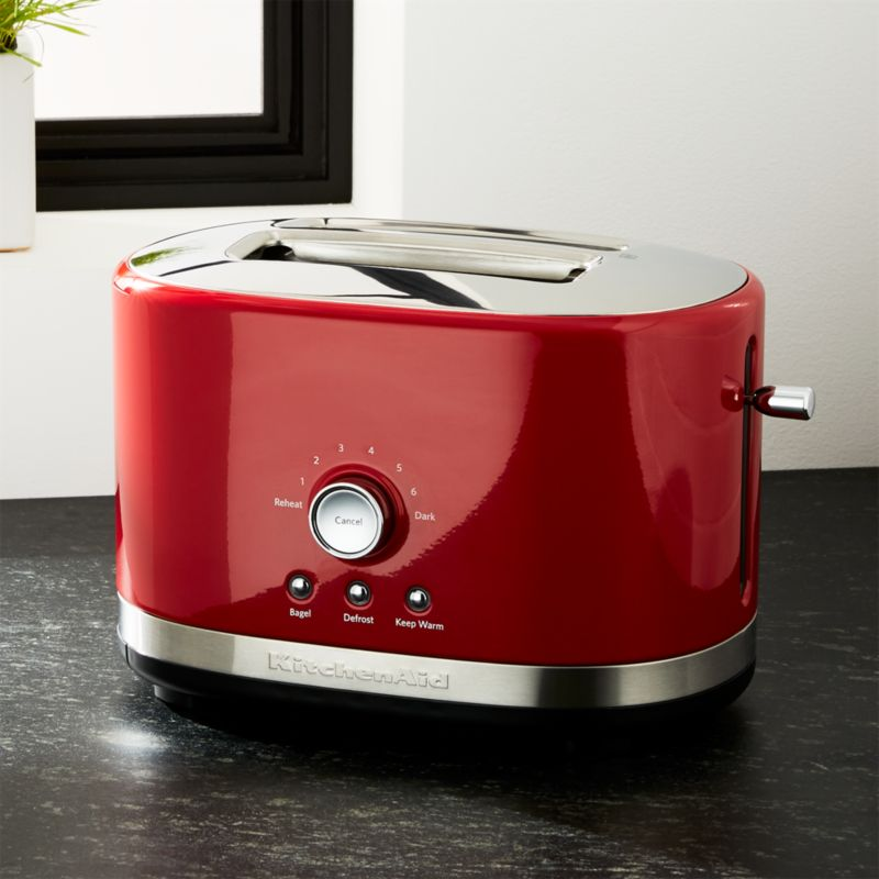 Kitchenaid Red 2 Slice Toaster Crate And Barrel