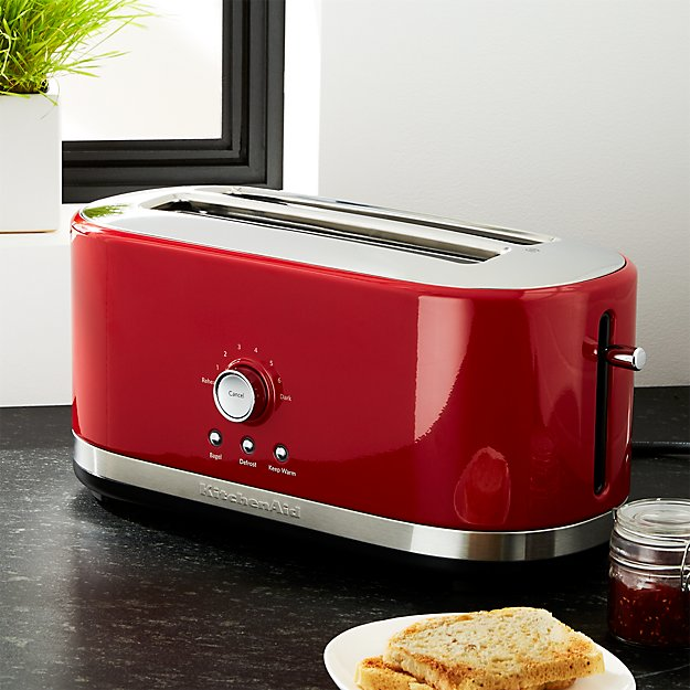 Kitchenaid 174 4 Slice Long Slot Toaster Red Crate And Barrel