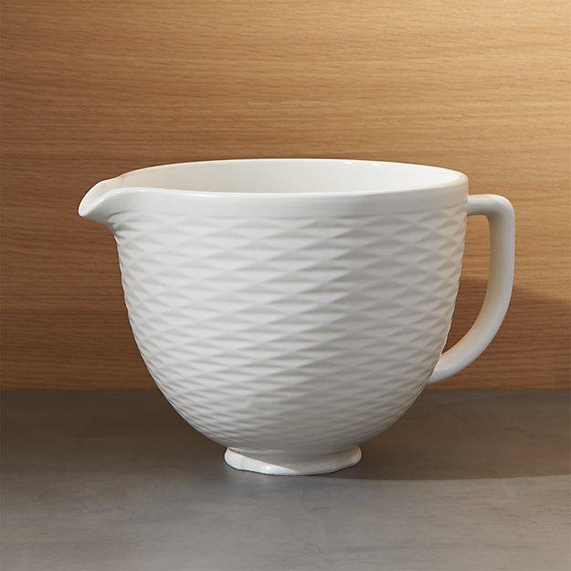 Kitchenaid 174 5 Qt Textured Ceramic Bowl Crate And Barrel