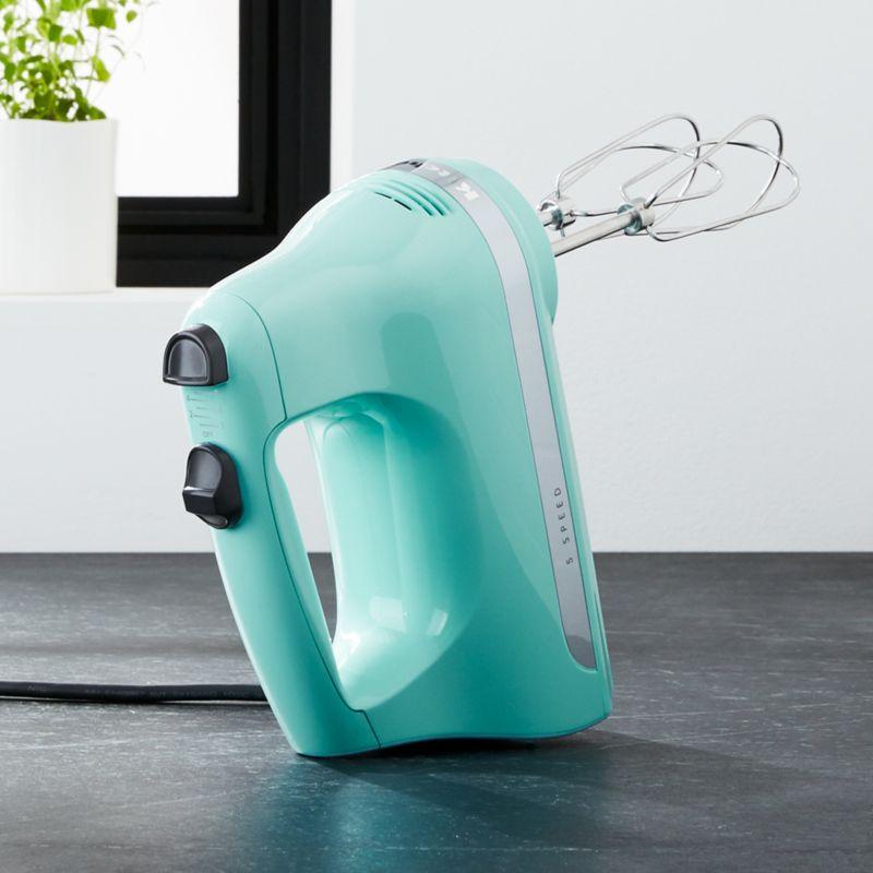 KitchenAid ® Ice Blue 5-Speed Hand Mixer