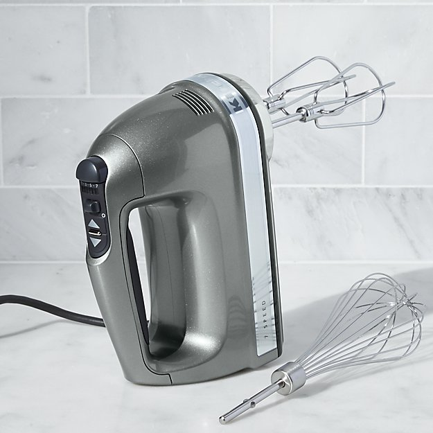 Kitchenaid 174 Silver 7 Speed Hand Mixer Crate And Barrel
