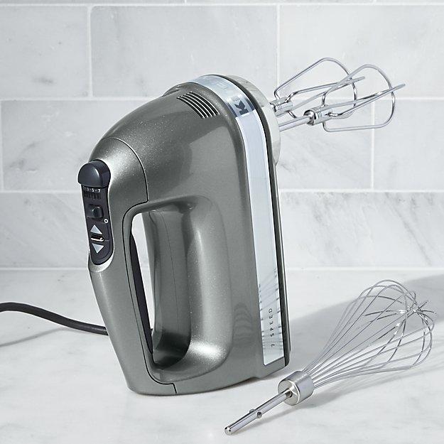 KitchenAid ® Silver 7-Speed Hand Mixer