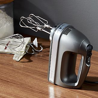 KitchenAid ® Silver 9-Speed Contour Hand Mixer