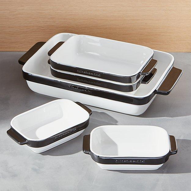 KitchenAid ® 5-Piece Black Ceramic Baking Dish Set