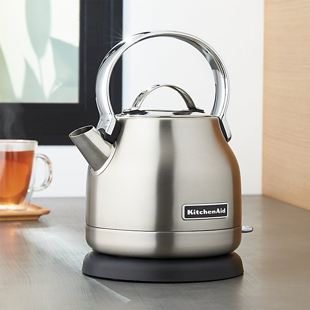 Kitchenaid 174 Silver Electric Kettle Crate And Barrel