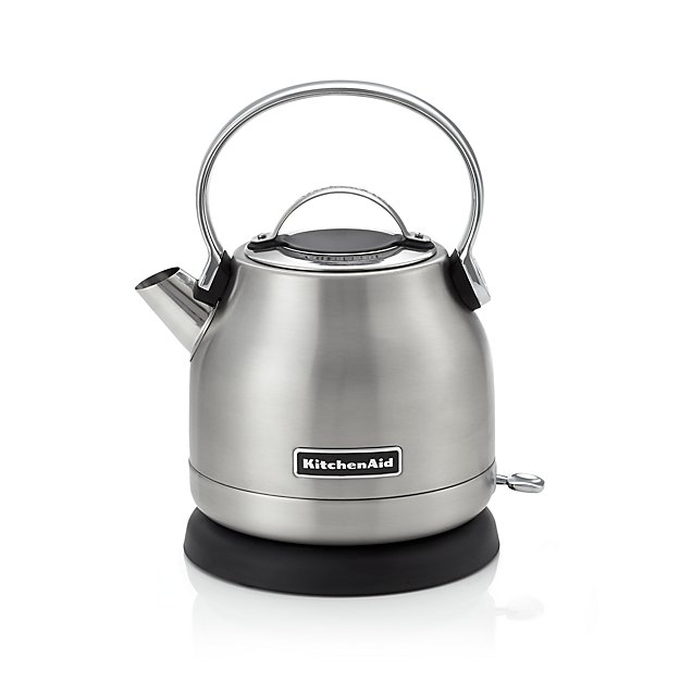 Kitchenaid Tea Kettle ~ Kitchenaid silver electric kettle crate and barrel