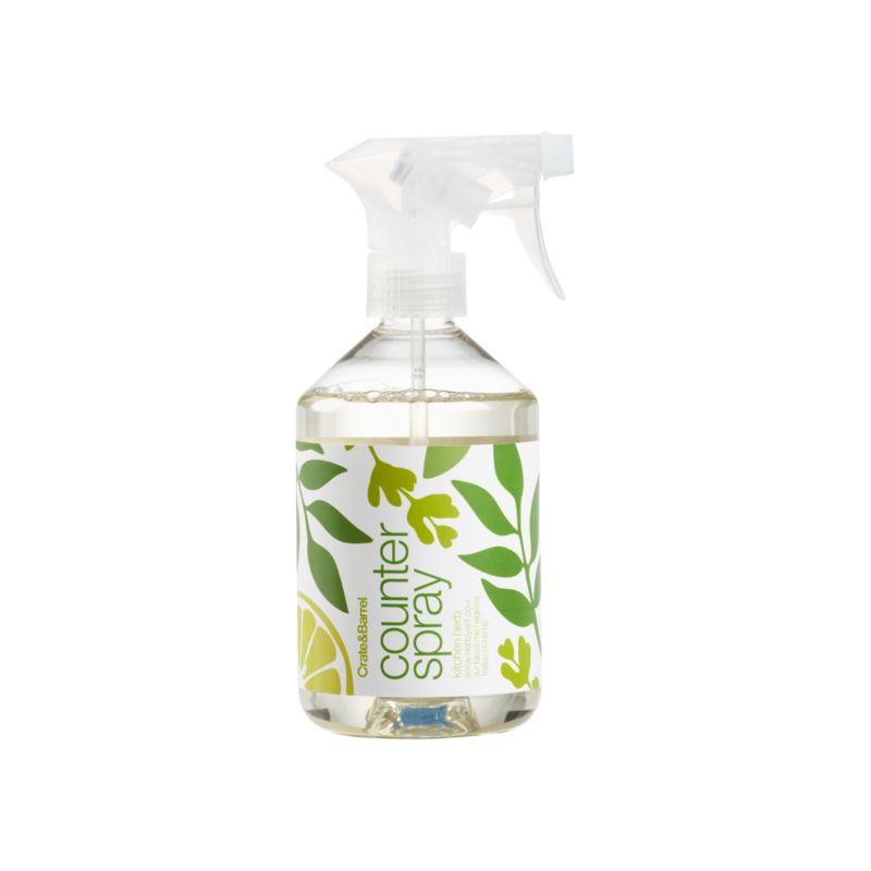 Water-based herbal spray from Caldrea freshens as it cleans. Essential oils of spearmint, basil and lavender get a citrus kick from lemon. Biodegradable, plant-derived ingredients promise gentle cleansing. Contains vegetable protein extract, a natural way to remove kitchen odors. Safe for use on counters, tile, walls, finished wood floors, porcelain, sealed granite and stainless sinks. A small squirt of this concentrated, biodegradable formulation goes a long way.<br /><br /><NEWTAG/><ul><li>Plant-derived ingredients</li><li>Recyclable PET bottle</li><li>Not tested on animals</li></ul>