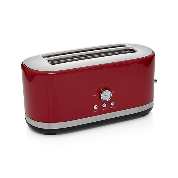 Kitchenaid 4 Slice Long Slot Toaster Red Crate And Barrel