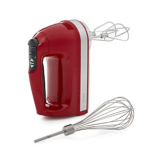 KitchenAid Empire Red 7-Speed Hand Mixer