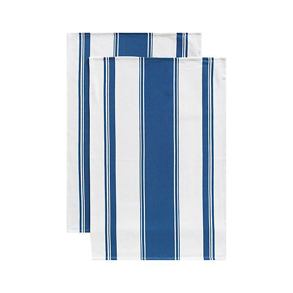 Set of 2 Kitchenette Indigo Dish Towels