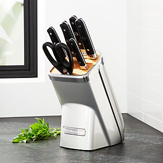 KitchenAid ® Professional Series 7-Piece Chrome Knife Block Set
