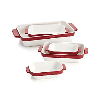 KitchenAid ® 5-Piece Red Ceramic Baking Dish Set