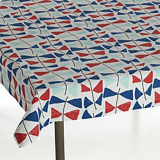 "Kite Tails 36"" Square Tablecloth"