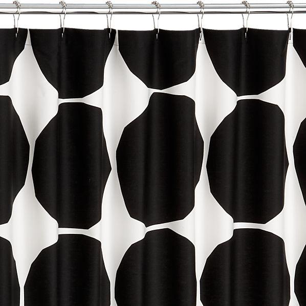 Marimekko Kivet Black Shower Curtain