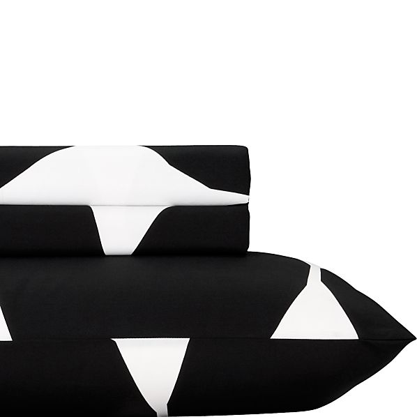 Marimekko Kivet Black Twin Extra Long Sheet Set