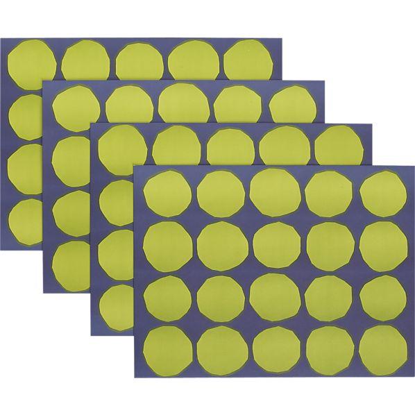 Set of 24 Marimekko Kivet Green and Blue Paper Placemats