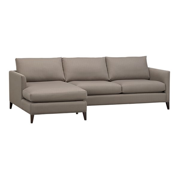 Klyne 2-Piece Sectional (Left Arm Chaise, Right Arm Apartment Sofa) in Sectional Sofas | Crate&Barrel from crateandbarrel.com
