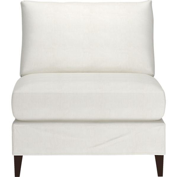 Klyne Slipcovered Armless Chair