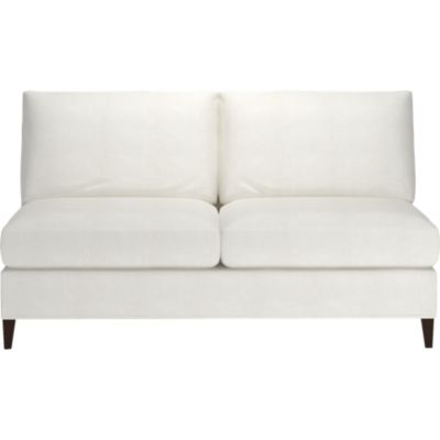 Klyne Slipcovered Armless Loveseat