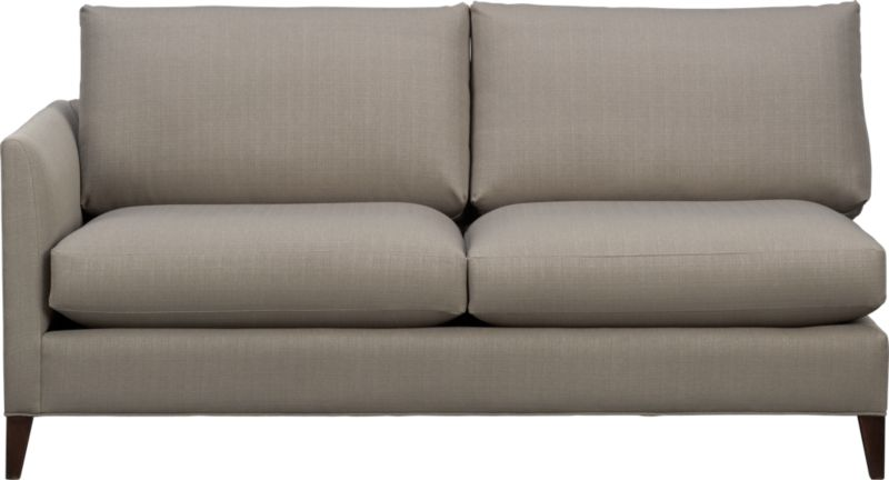 Klyne is a compact sofa whose warm grey lines refresh the room with a casual attitude. Narrow tapered arms cut a sleek profile and make for an even roomier experience. The perfect size for apartment and small space living.<br /><br />After you place your order, we will send a fabric swatch via next day air for your final approval. We will contact you to verify both your receipt and approval of the fabric swatch before finalizing your order.<br /><br /><NEWTAG/><ul><li>Eco-friendly construction</li><li>Certified sustainable kiln-dried hardwood frame</li><li>Seat cushions are soy- or plant-based polyfoam encased in synthetic ticking</li><li>Back cushions are fiber in synthetic ticking</li><li>Flexolator spring suspension</li><li>Hardwood legs with hickory finish</li><li>Upholstered in polyester</li><li>Benchmade</li><li>See additional frame options below</li><li>Made in North Carolina, USA of domestic and imported materials</li></ul>