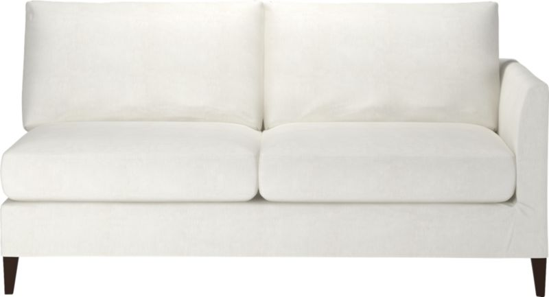 "Tailored to fit our Klyne seating, chic slipcover is fashioned slim and minimal to make the most of its narrow tapered arms, plump cushions and tapered legs.<br /><br />Additional <a href=""http://crateandbarrel.custhelp.com/cgi-bin/crateandbarrel.cfg/php/enduser/crate_answer.php?popup=-1&p_faqid=125&p_sid=DMUxFvPi"">slipcovers</a> available below and through stores featuring our Furniture Collection.<br /><br />After you place your order, we will send a fabric swatch via next day air for your final approval. We will contact you to verify both your receipt and approval of the fabric swatch before finalizing your order.<br /><br /><NEWTAG/><ul><li>89% cotton and 11% polyester</li><li>Machine wash</li><li>Made in North Carolina, USA</li></ul>"