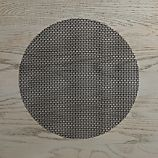 Chilewich Knitty Black Vinyl Placemat