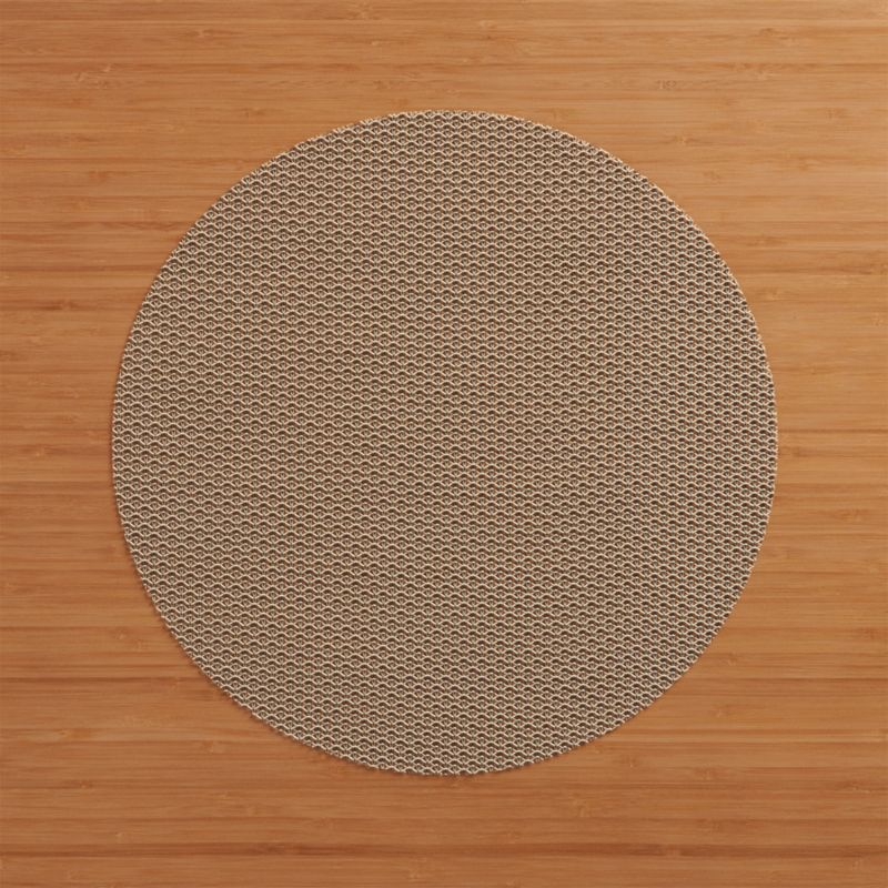 Durable polyester-vinyl placemat textures the table in an exclusive pattern that  takes its cue from fine knits.<br /><br /><a href=/shop-by-brand/chilewich-placemats-doormats/1>View all Chilewich products</a><br /><br /><NEWTAG/><ul><li>100% woven vinyl polyester</li><li>Clean with a damp cloth; air or towel dry and store flat</li><li>Made in USA</li></ul>