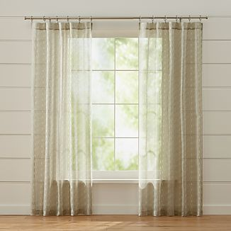 Knots Grey Sheer Curtains